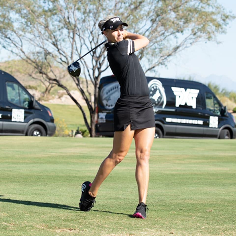 LPGA TOUR Pro Ryan OToole on the practice range.