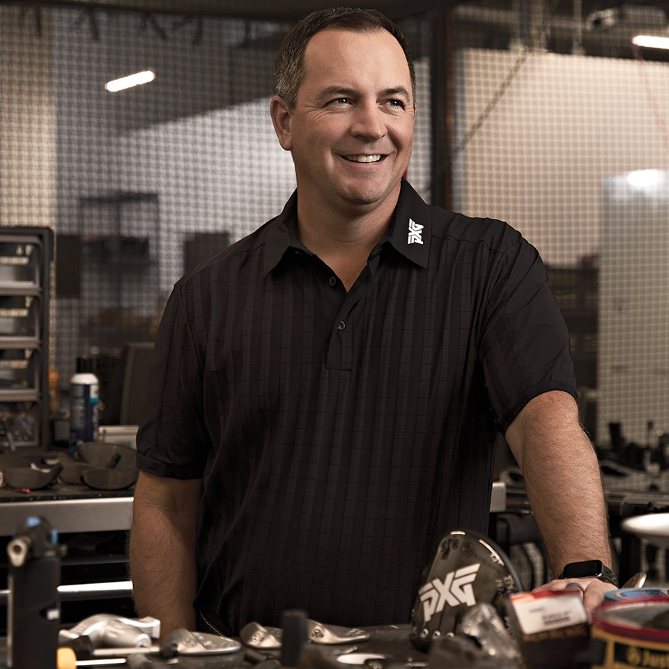 PXG Engineer Brad Schweigert in the R and D lab at PXG Headquarters.