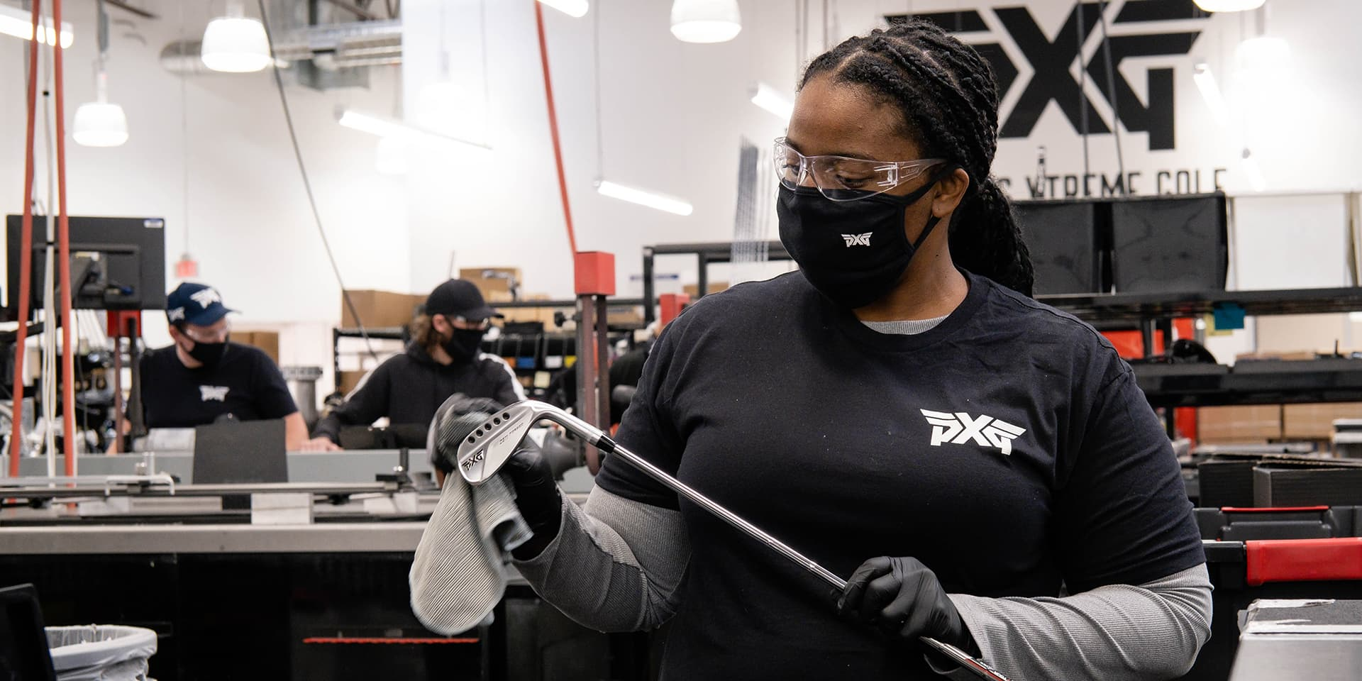 PXG Club Builder Inspecting and Packing Clubs