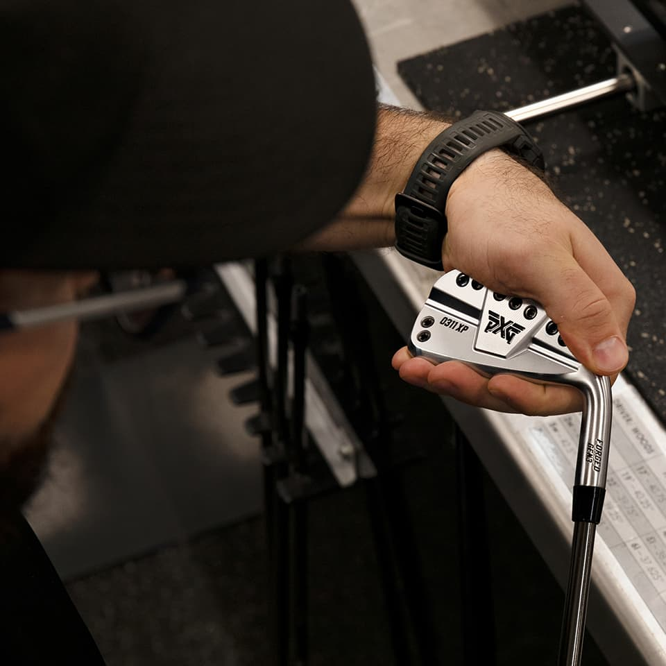 PXG Club Builder Doing Final Swing Weight Inspection