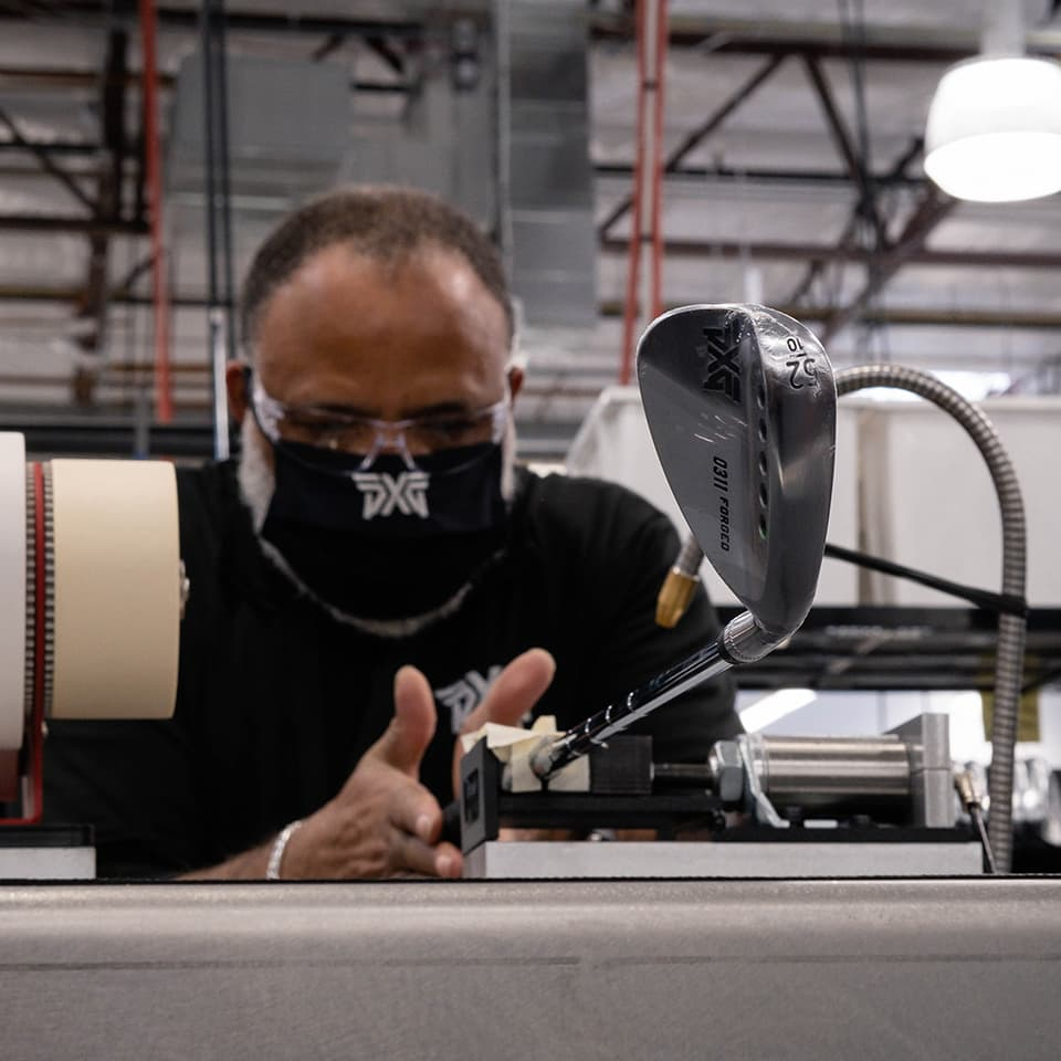 PXG Club Builder Attaching Grip to Shaft