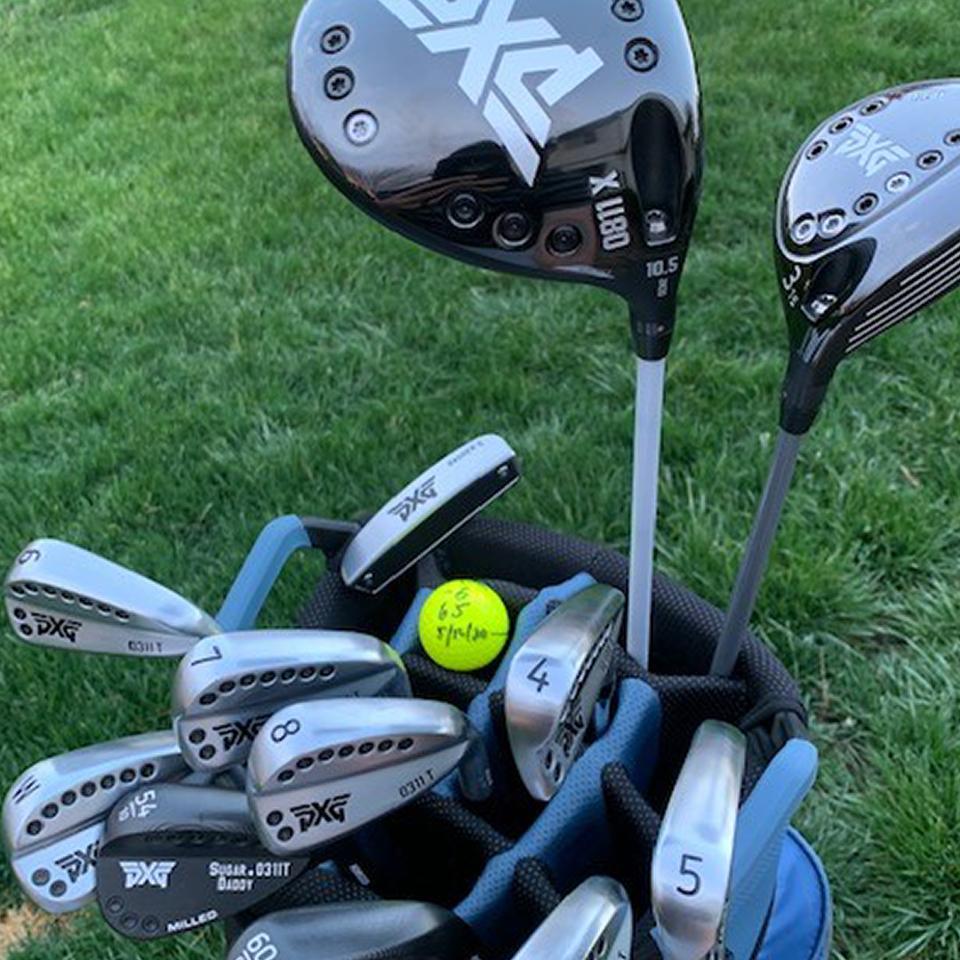 Bag of PXG Golf Clubs