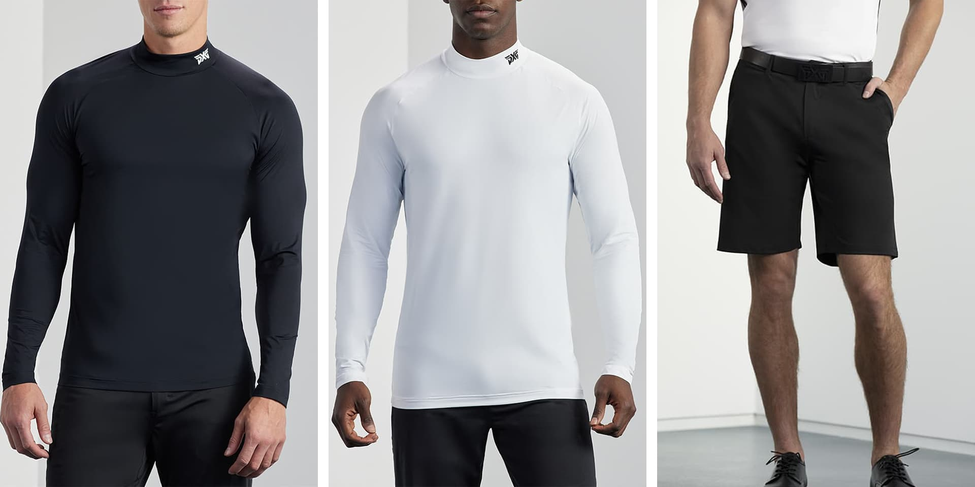 PXG Men's Essential Base Layers and Golf Shorts