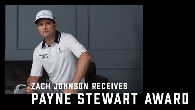 Zach Johnson Honored with PGA TOUR'S Payne Stewart Award